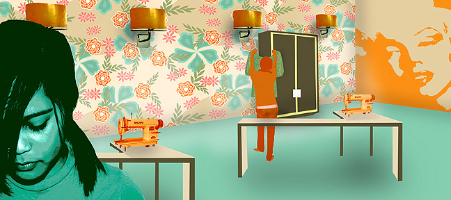 """The fashion room of the future"" Maggie 08"